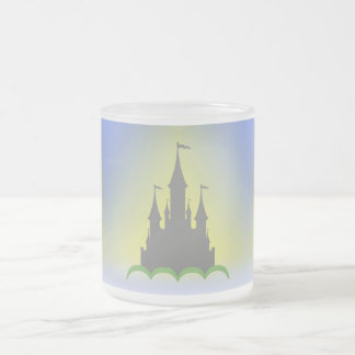 Daytime Dreamy Castle In The Hills Sunny Sky Frosted Glass Coffee Mug