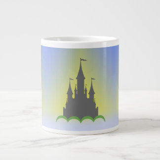 Daytime Dreamy Castle In The Hills Sunny Sky Giant Coffee Mug