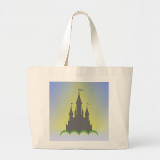 Daytime Dreamy Castle In The Hills Sunny Sky Large Tote Bag