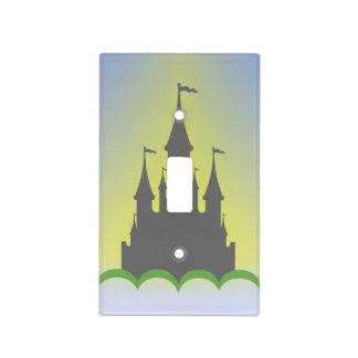 Daytime Dreamy Castle In The Hills Sunny Sky Light Switch Cover