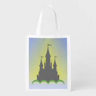 Daytime Dreamy Castle In The Hills Sunny Sky Market Totes