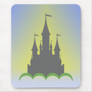 Daytime Dreamy Castle In The Hills Sunny Sky Mouse Pad