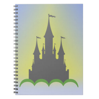 Daytime Dreamy Castle In The Hills Sunny Sky Note Book