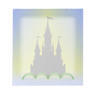 Daytime Dreamy Castle In The Hills Sunny Sky Memo Note Pads