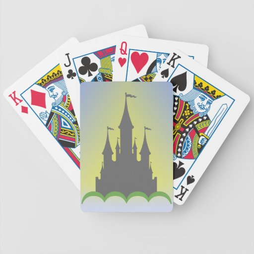 Daytime Dreamy Castle In The Hills Sunny Sky Bicycle Card Deck