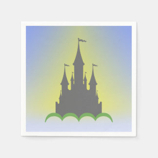 Daytime Dreamy Castle In The Hills Sunny Sky Disposable Napkin
