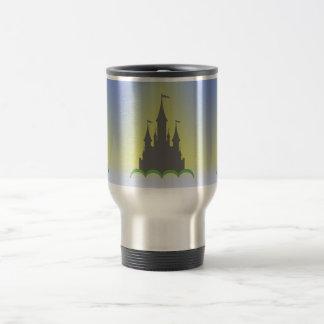 Daytime Dreamy Castle In The Hills Sunny Sky Travel Mug