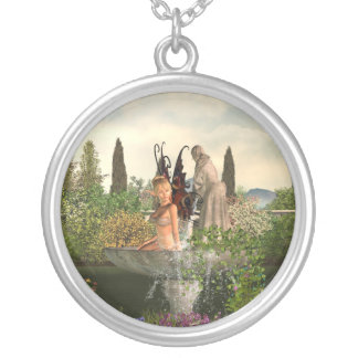 Daytime Garden Fairy Silver Plated Necklace