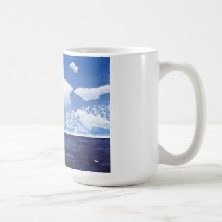Daytime Lighthouse with Ocean View Painting Coffee Mug