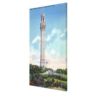 Daytime View of Pilgrim Memorial Canvas Print
