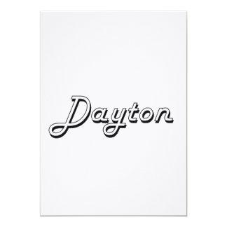 Dayton Classic Retro Name Design 5x7 Paper Invitation Card