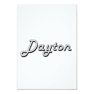 Dayton Classic Retro Name Design 3.5x5 Paper Invitation Card