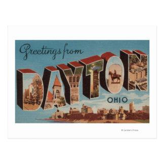 Dayton, letra ScenesDayton, OH de OhioLarge Postales
