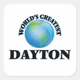 Dayton más grande del mundo pegatina cuadradas