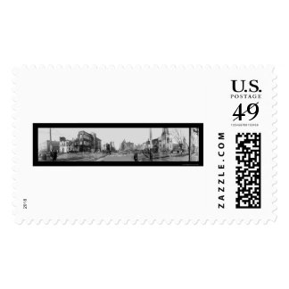 Dayton OH Flood Fire Photo 1913 Stamps