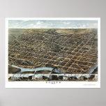Dayton, OH Panoramic Map - 1870 Poster