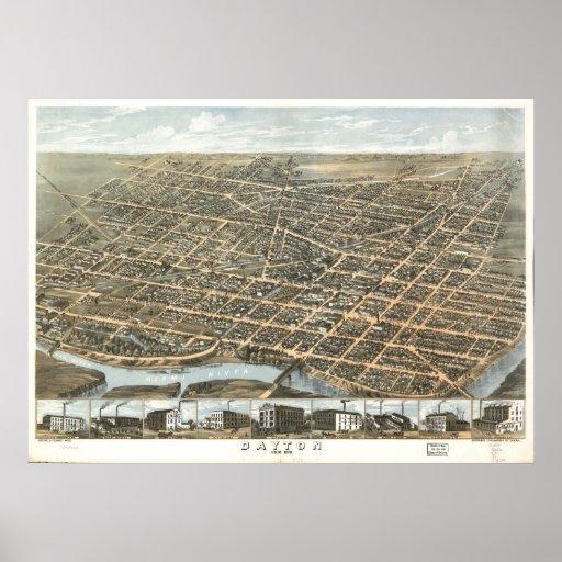 Dayton, Ohio 1870 Poster