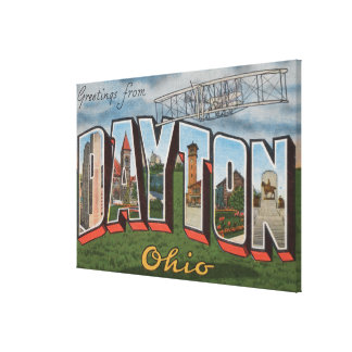 Dayton, Ohio (avión de los hermanos de Wright) Lona Estirada Galerias
