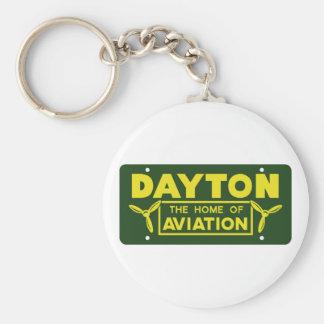 Dayton Ohio Basic Round Button Keychain