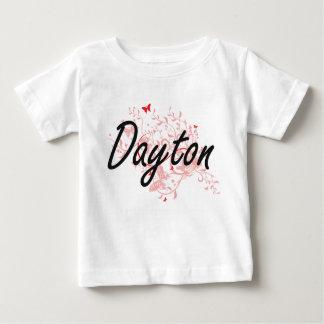 Dayton Ohio City Artistic design with butterflies T Shirt