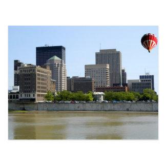 Dayton Ohio city skyline Postcards
