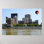 Dayton Ohio city skyline Poster