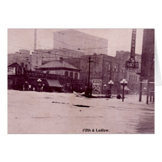 Dayton, Ohio Flood Scene, Fifth and Ludlow Greeting Card