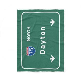 Dayton Ohio oh Interstate Highway Freeway : Fleece Blanket