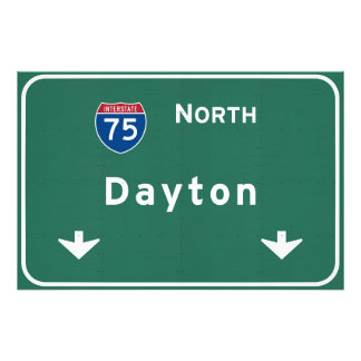 Dayton Ohio oh Interstate Highway Freeway : Photo Print