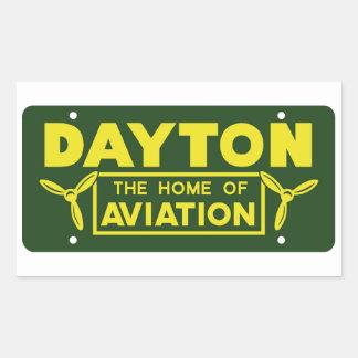 Dayton Ohio Pegatina Rectangular