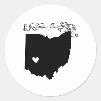 Dayton Ohio Pegatina Redonda