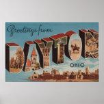 Dayton, OhioLarge Letter ScenesDayton, OH Poster