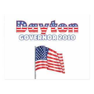Dayton Patriotic American Flag 2010 Elections Postcard