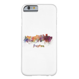 Dayton skyline in watercolor barely there iPhone 6 case