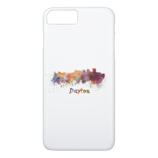 Dayton skyline in watercolor iPhone 7 plus case