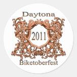 Daytona 2011 Biketoberfest Pegatinas Redondas
