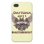 Daytona 2011 cráneos rojos iPhone 4 carcasa