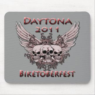 Daytona 2011 red skulls mouse pad
