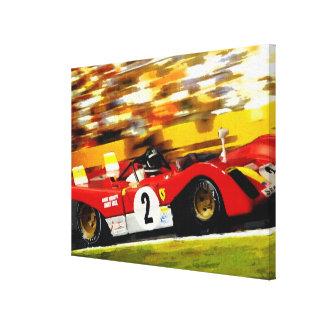 DAYTONA '72 - JACKY featuring MARIO - digital kind Canvas Print