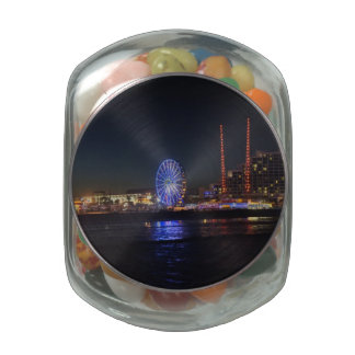 Daytona at Night Glass Candy Jars