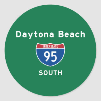 Daytona Beach 95 Pegatina Redonda