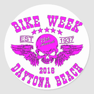 Daytona Beach Bike Week 2016 Classic Round Sticker