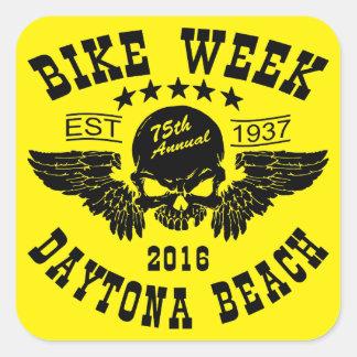 Daytona Beach Bike Week 2016 Square Sticker