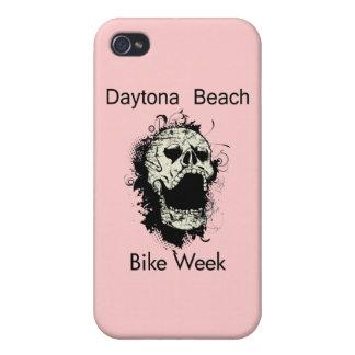 Daytona Beach Bike Week Skull black iPhone 4 Cover