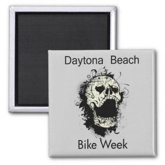 Daytona Beach Bike Week Skull black Magnet
