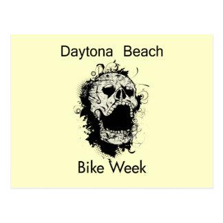 Daytona Beach Bike Week Skull black Postcard