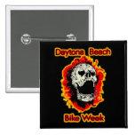 Daytona Beach Bike Week Skull flaming Buttons
