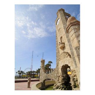 Daytona Beach Boardwalk Clock Tower Postcard