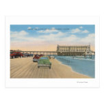 Daytona Beach, FL - Beach View of Pier Casino Postcard