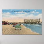 Daytona Beach, FL - Beach View of Pier Casino Print